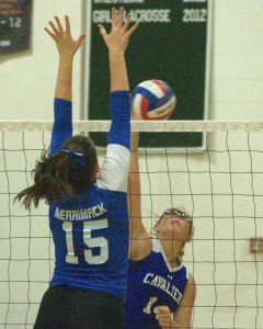 Merrimack girls volleyball beats Hollis Brookline in five games