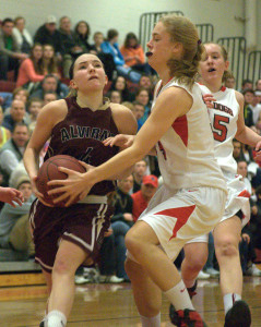 Second-half surge leads Bedford girls basketball past Alvirne in D1 quarterfinals