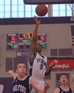 Nashua North holds off Milford in Day 2 of Chick-fil-A Holiday Basketball Tournament