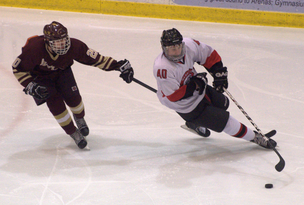 Chris Viola and the Bedford boys hockey team is a perfect 10-0 on the season.