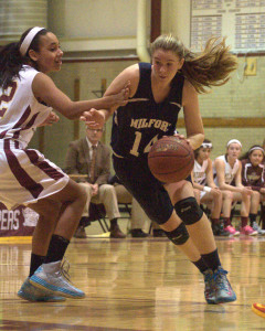 Milford girls basketball holds off Portsmouth to improve to 10-1