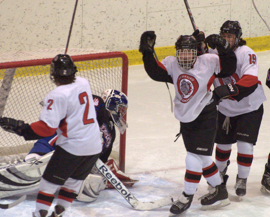 The Bedford boys hockey team hopes its celebrating a third-straight championship a week from Saturday.