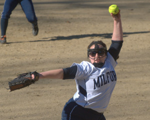 Milford softball survives two Souhegan rallies to capture win