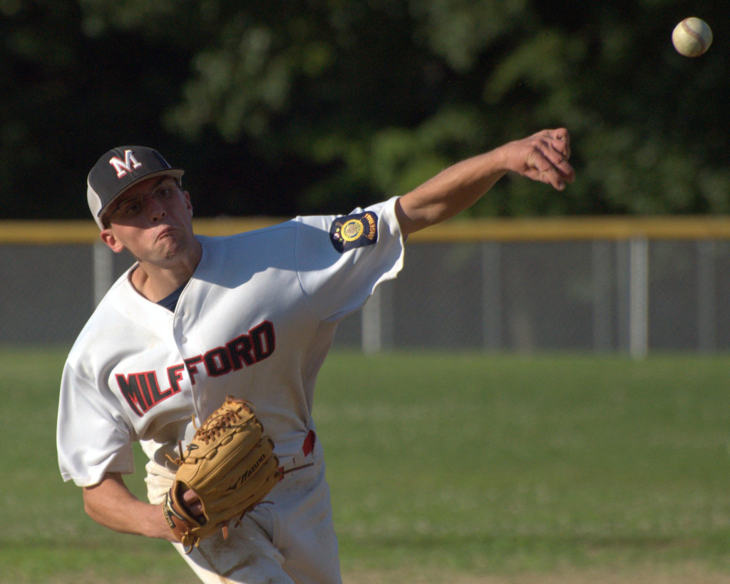 Ryan Britton and Milford won their final two games to keep their tournament hopes alive.