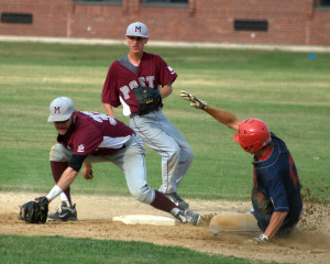Defense, timely hitting lifts Rochester Post 7 past Merrimack Post 98