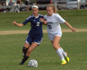Late goal gives Milford girls soccer win over Hollis Brookline