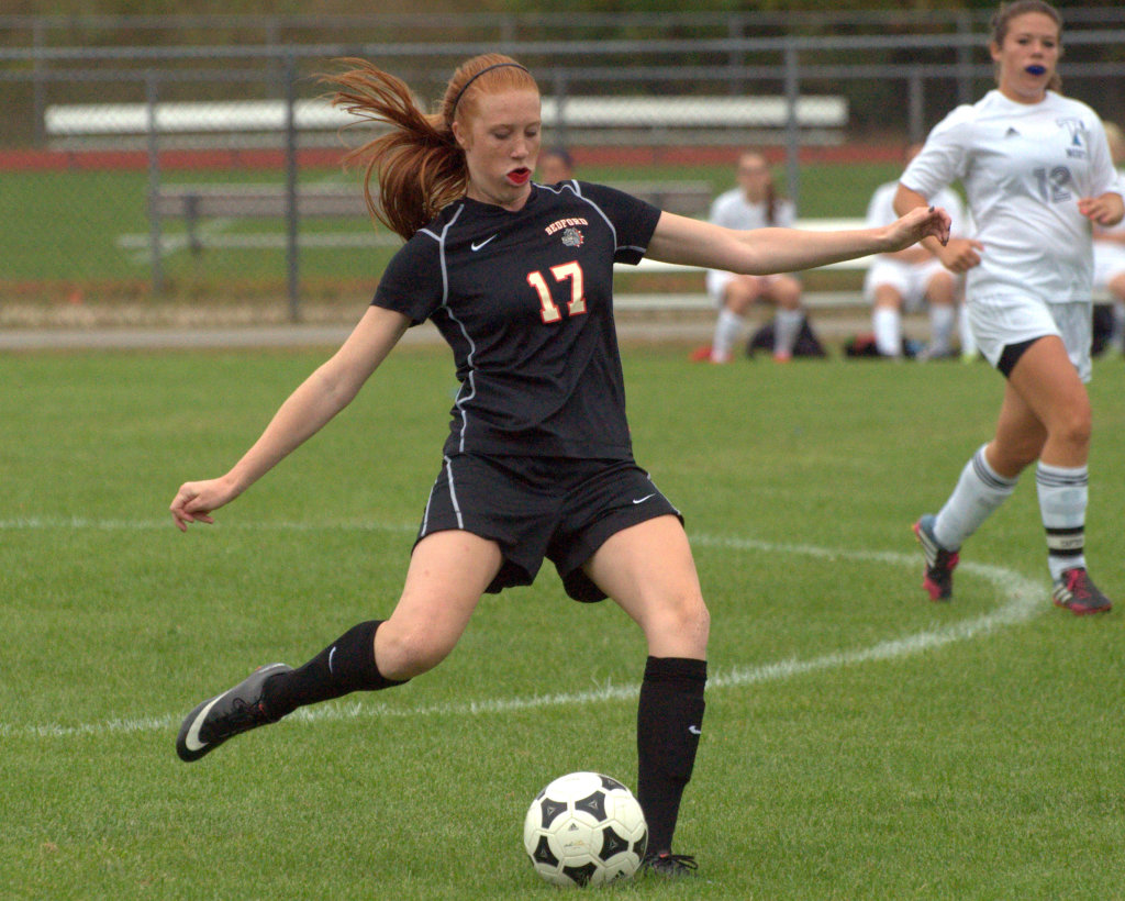 Bedford's Christina Campbell was one of 11 players named to the Division I girls soccer first team.