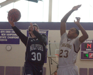 Milford boys basketball holds off Thornton Academy at Chick-Fil-A Holiday Tournament