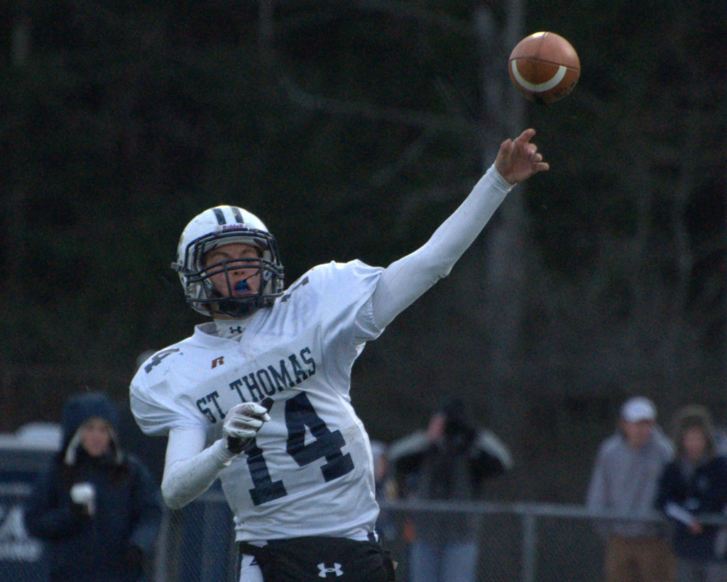 St. Thomas quarterback Steve Hedberg was named to the Division II East all-conference team.