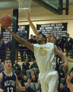 Milford boys basketball holds off Souhegan
