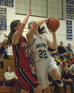 Coe-Brown girls basketball stays undefeated with late surge past Milford