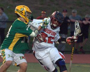 Bishop Guertin boys lacrosse beats Bedford, ends Bulldogs' 72-game winning streak