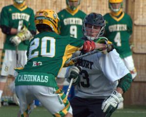 Duxbury boys lacrosse scores late to beat Bishop Guertin