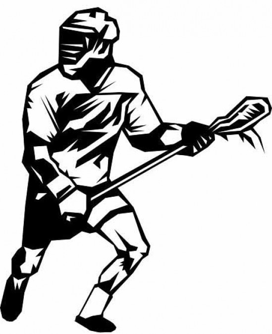 Free Lacrosse Player Shooting Clipart Graphic